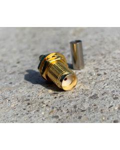 SMA Buchse Crimp für 3mm Koaxialkabel